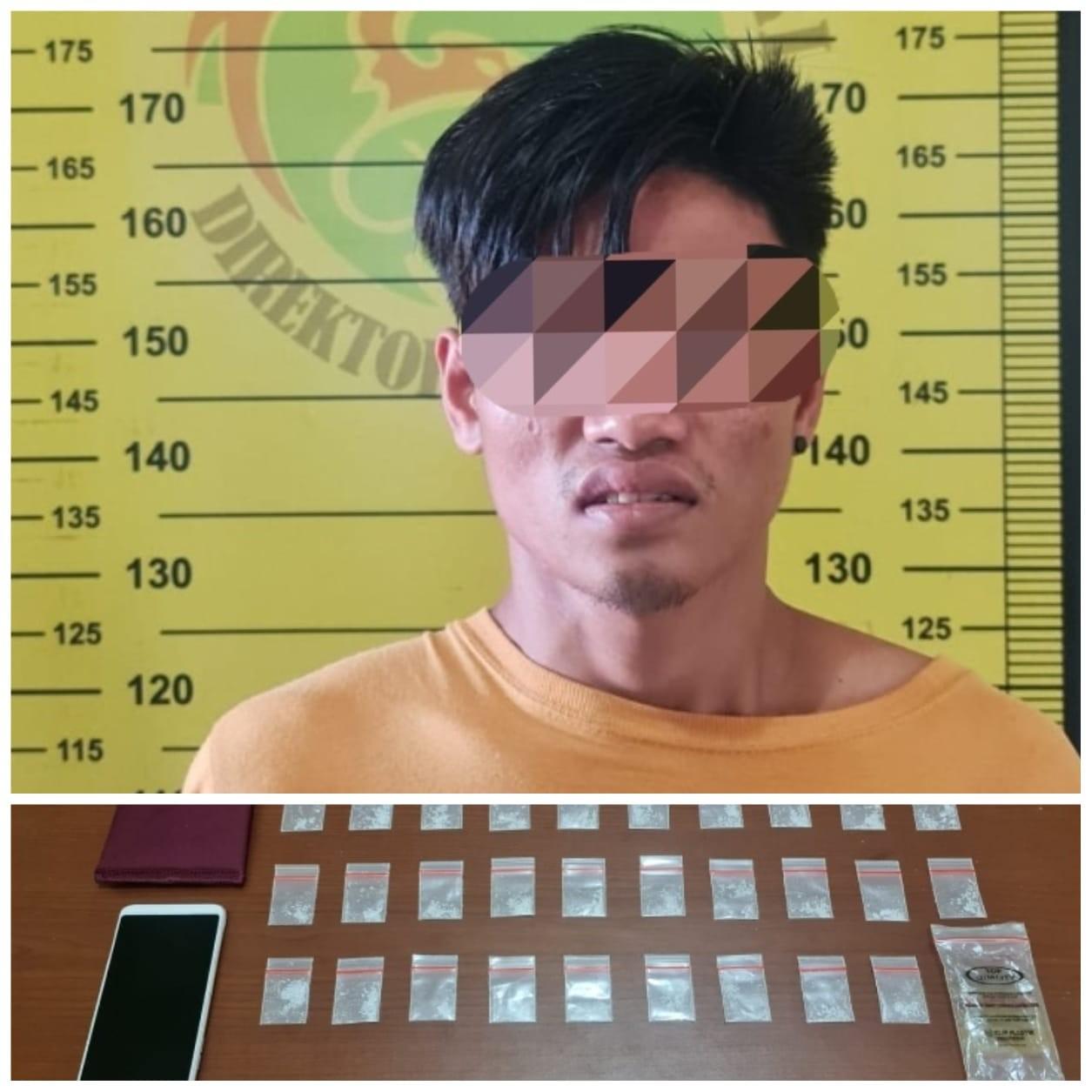 Nekat Edar Sabu, Pengangguran di Bontang Baru Ditangkap Polisi