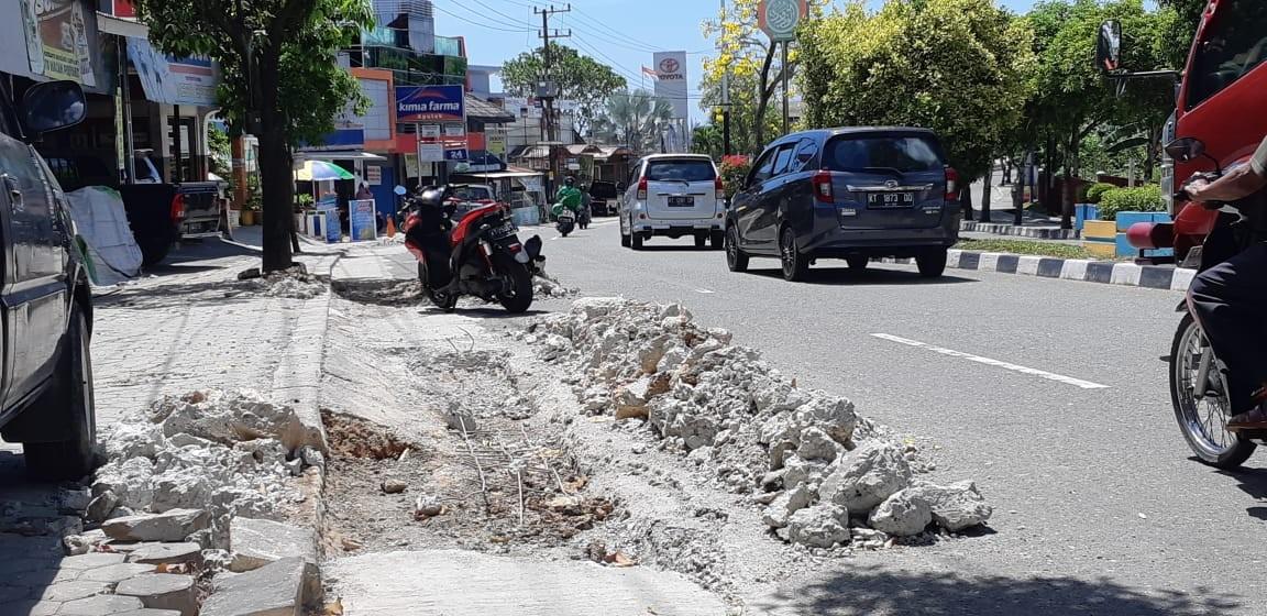 Galian di Jalan Bhayangkara, PUPRK Sebut Perbaikan Masa Pemeliharaan