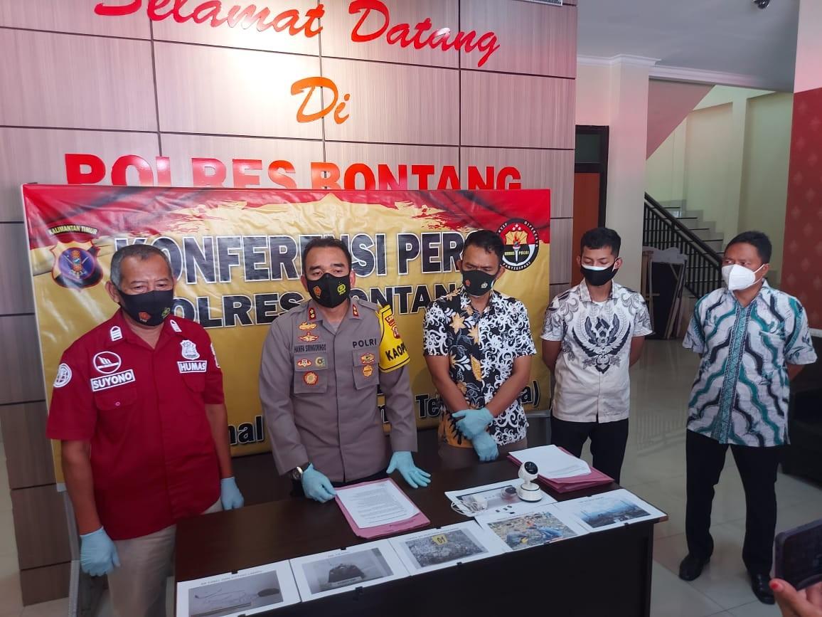 Penyebab Kebakaran Pasar Citra Mas Lok Tuan, Kapolres Bontang : Kebocoran Arus Listrik